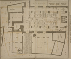 A plan of the church of St Peter upon Cornhill, its cemetery &c. with the seating of the inhabitants in the said church